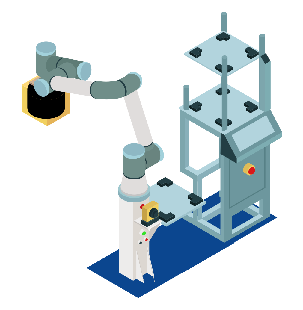 SECS/GEM Collaborative robot to load/unload pods, foups, cassettes and wafer carriers